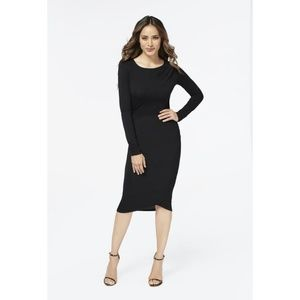 JustFab Crossover Drape Front Dress